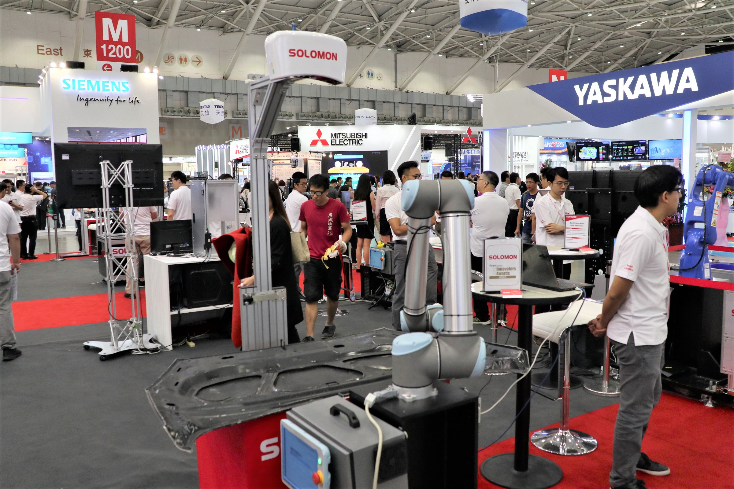 台湾企業の台湾回帰を受け、「台北国際自動化工業展」には出展企業が1000社を超えた