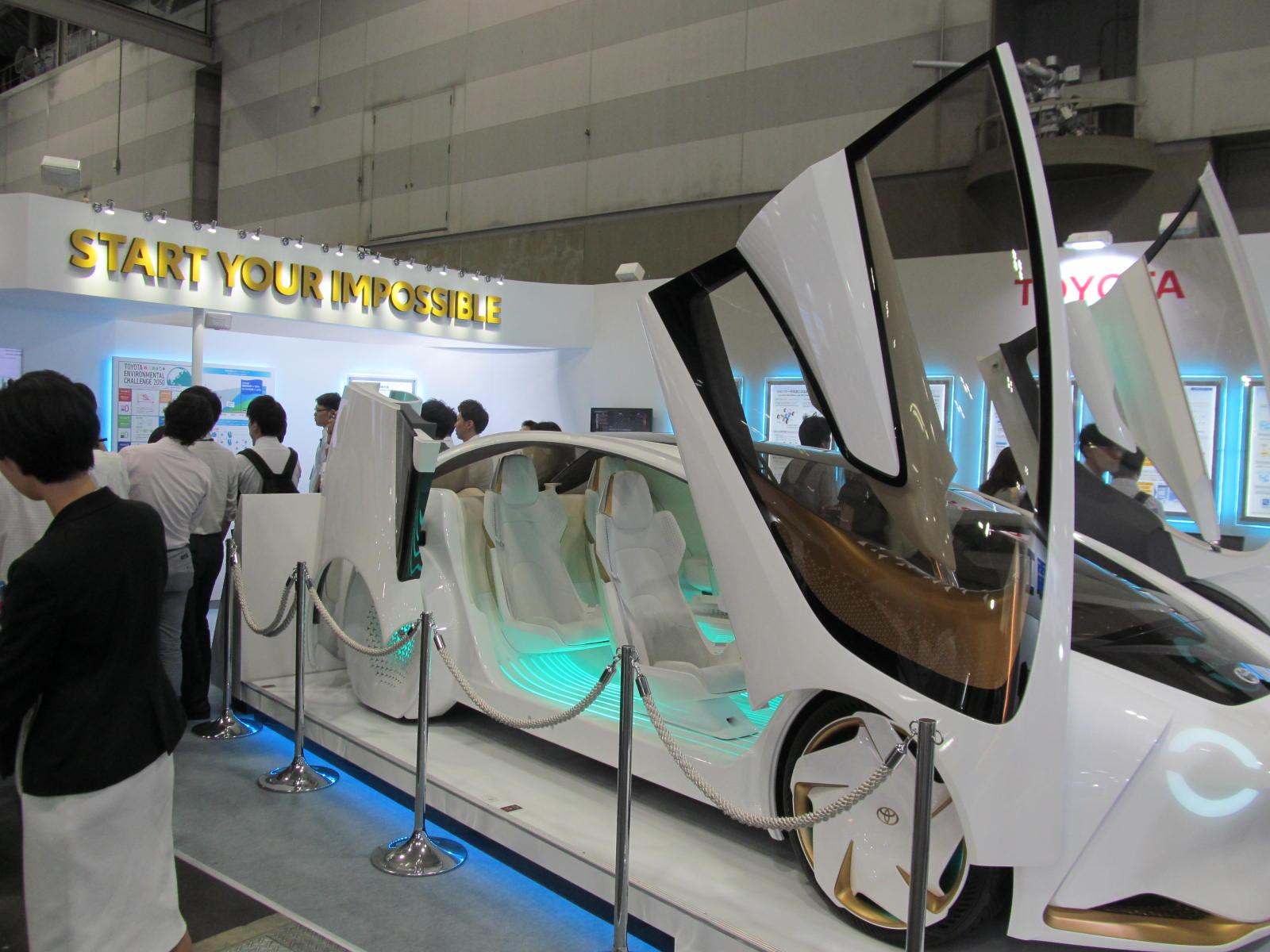 「人とくるまのテクノロジー展名古屋」で展示されたトヨタのニューコンセプトカー