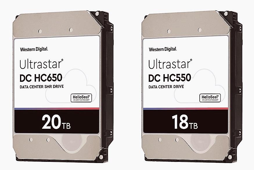 「Ultrastar DC HC550 CMR」(右)と「同HC650 SMR」
