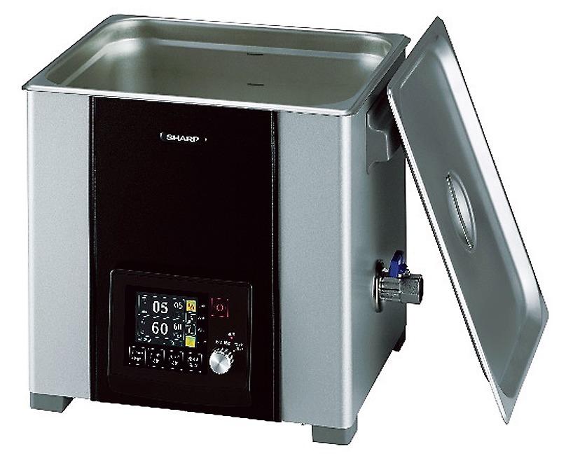 超音波の力で金属部品や工具などの汚れを落とす卓上型超音波洗浄機