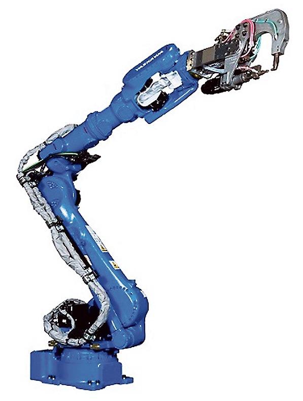 ロングアームタイプ中空スポット溶接ロボット「MOTOMAN‐SP225H‐135」