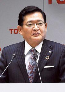V字回復に手応えを語る車谷会長CEO