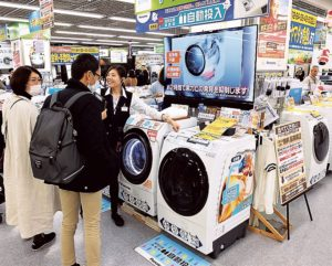 増税前には駆け込み需要でドラム式洗濯機といった高付加価値品が売れた