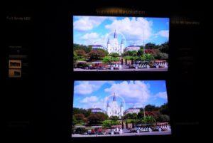 ソニーは8Kの新製品を発表するとともに8K解像度に変換する画作りにおける技術力を訴求