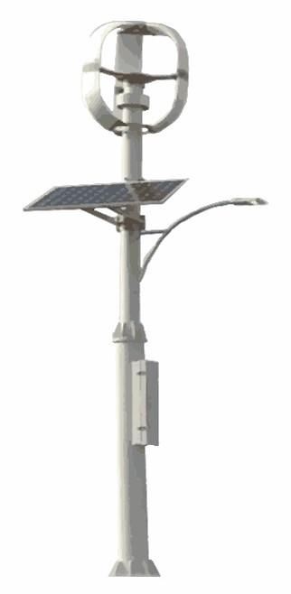 停電時には、取り出して持ち運び可能な蓄電池も搭載するマイクロ風車